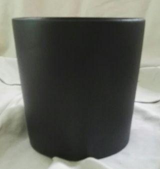 Maceta de cerámica cónica negra 14 cm nueva