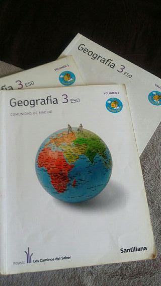 Libros Geografia 3 ESO Santillana