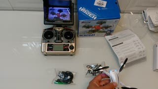 dron h32gh. camara vivo y pantalla