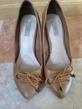 Zapatos piel camel