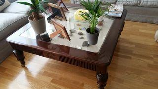 Mesa baja madera noble gallonada