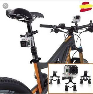 soporte bicicleta para camaras gopro y variasnuevo