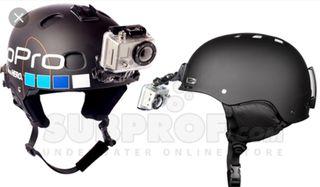 soporte casco para camara gopro y deportivas. nuev