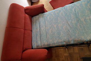 sofa cama y mesa de centro