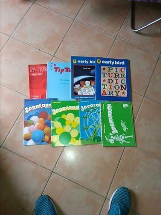 Lote de libros de ejercicios y teoria de inglés