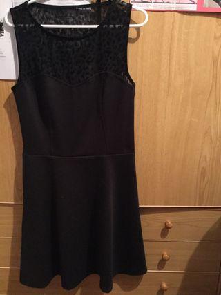 Vestido negro leopardo S/M