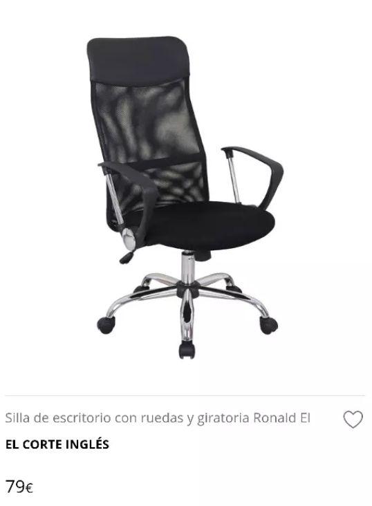 Silla Oficina/Escritorio con ruedas. de segunda mano por 55 € en ...