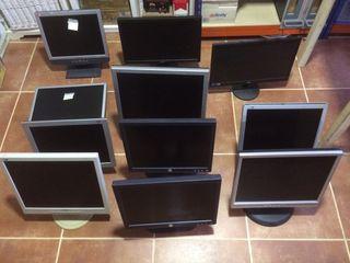 Lote 11 monitores pc averiados