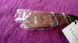 Cinturón de piel reversible Lamarthe. Nuevo. 2,9cm