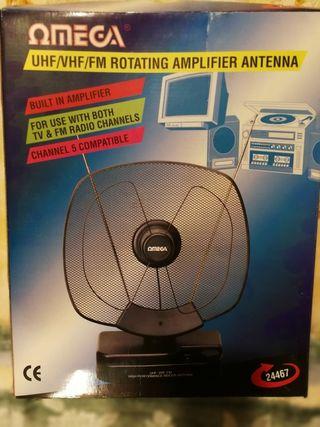 Antena portátil con amplificador