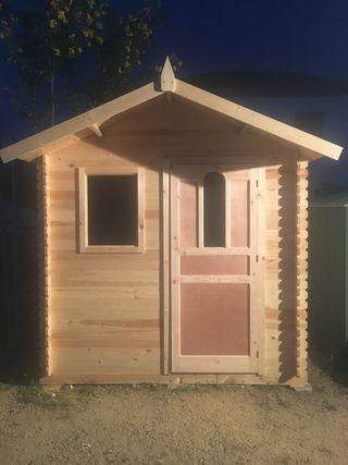 Cabaña caseta de madera