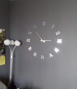 Reloj de pared gigante de segunda mano en wallapop - Reloj gigante pared ...