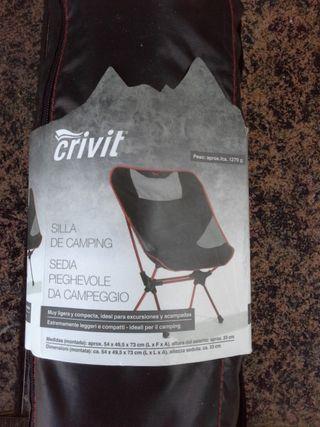 CRIVIT Silla plegable de camping. max 145 kg
