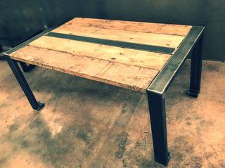 mesas hechas a mano