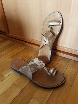 Sandalia de cuero ibizenca