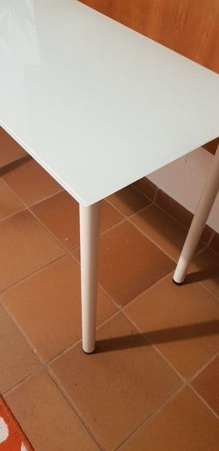 MESA IKEA CRISTAL ESTUDIO GLASHOME