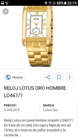 lotus oro reloj