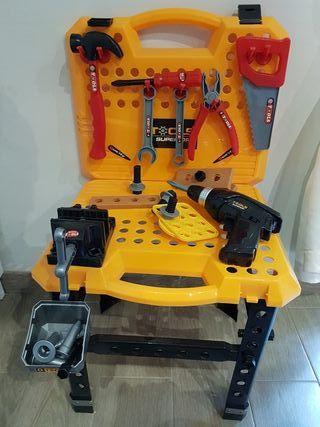 juguete banco de trabajo/ maletin de herramientas