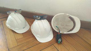 cascos gafas seguridad obra