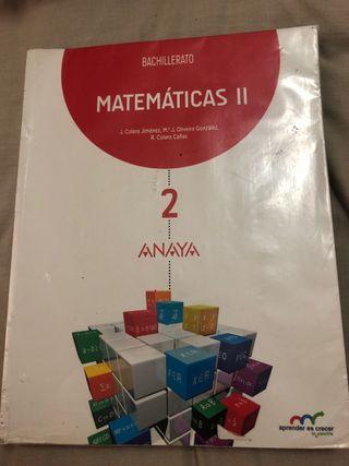 MATEMATICAS II 2 BAT