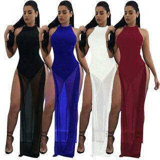 Sexy vestido largo moda colombiana 2018