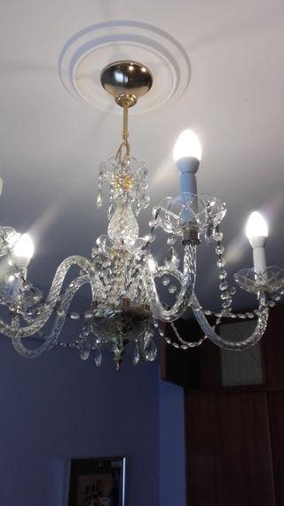 Lámpara de araña de Cristal