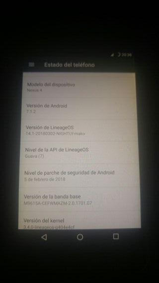 LG NEXUS 4 16 GIGAS LIBRE COMO NUEVO