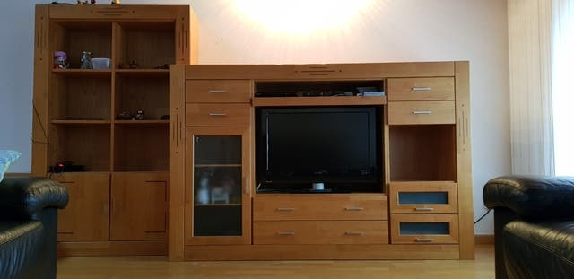 Mueble Salon Madera Maciza Second Hand For 350 In Escaldes In Wallapop - Salon-madera