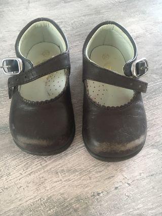 Zapatos de bebé piel 20