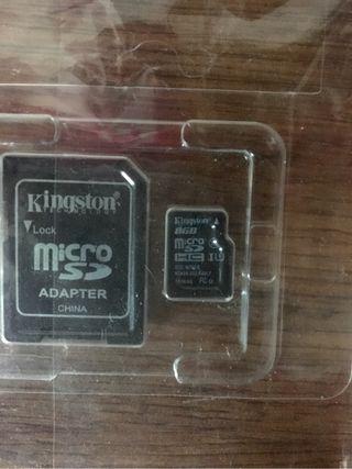 Tarjeta micro SD con adaptador SD