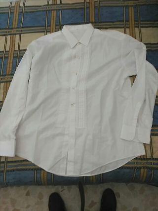 Camisa campera de chorrera