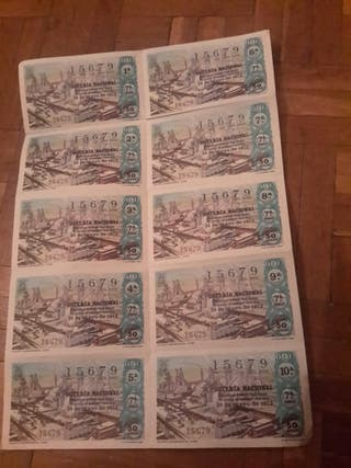 Billete de lotería de 26 mayo 1973