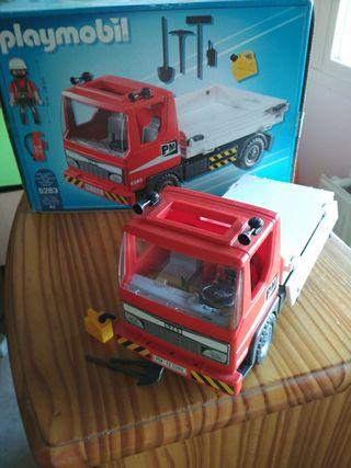 camion volquete de construccion de playmobil