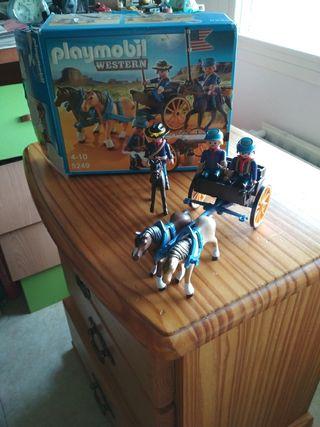 playmobil western con su caja