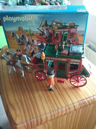diligencia playmobil con todos los accesorios