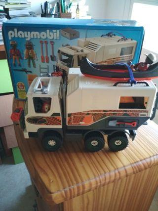 camion aventura playmobil con todos los accesorios