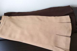 2 faldas, lote, marca Zendra, El Corte Inglés, t42/44. Impecables