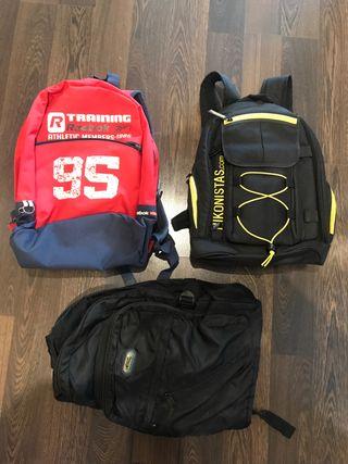 3 mochilas 10€