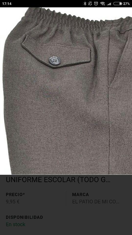 e1575493d6282 Pantalon corto uniforme gris de segunda mano por 3 € en Madrid en ...