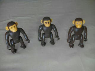 3 monos, animales playmobil