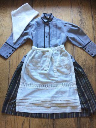 Vestido aldeana baserritarra 4