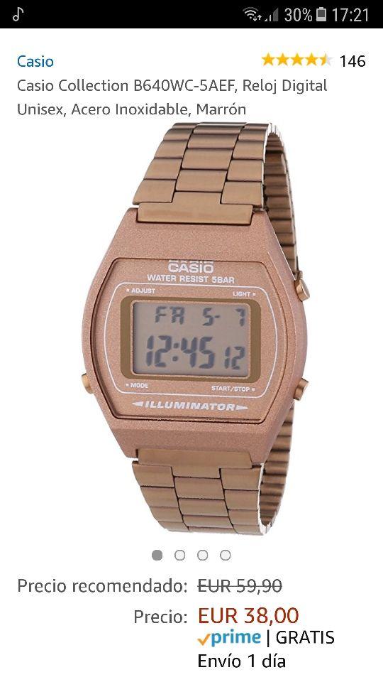 174577b21e3e Casio reloj bañado en oro rosa de segunda mano por 40 € en Madrid en ...