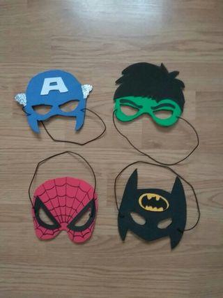 caretas superheroes disfraces