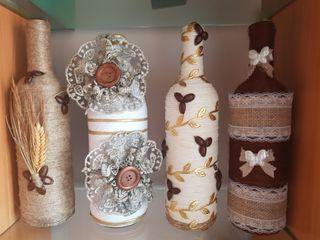 botellas decoradas artesanalmente