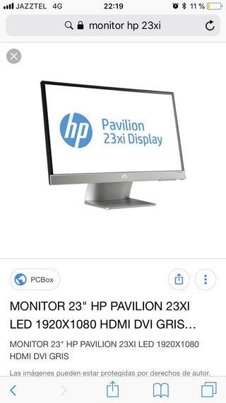 Monitor hp 23 xi ips