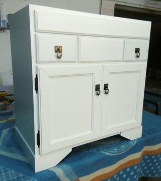 Mueble de baño de 80 cms blanco