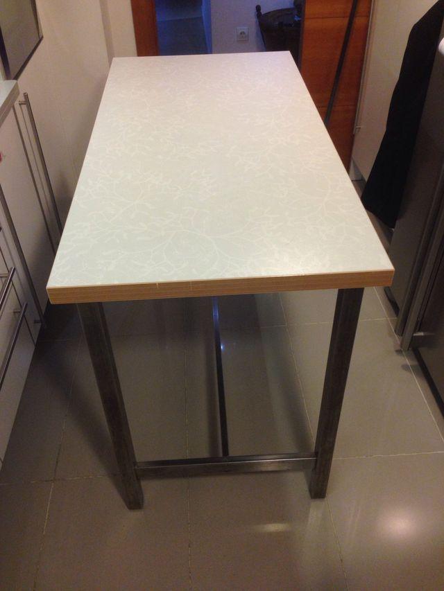 Mesa alta cocina de segunda mano por 70 en alicante en wallapop - Mesa alta para cocina ...