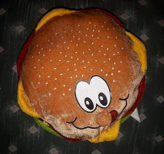 Peluche hamburguesa.