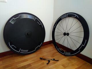 Juego ruedas lenticular + perfil 60mm.