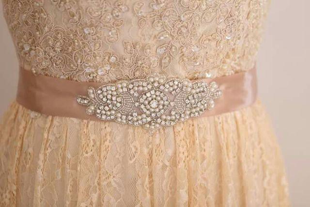 eac483a61 Cinturón de pedrería para vestido de novia .Nuevo! de segunda mano ...
